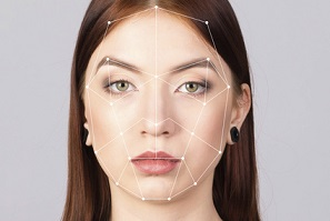 Biometric verification woman face recognition security